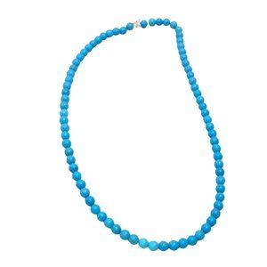 Faux Turquoise Blue Magnesite Beaded Necklace  121